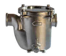 0005 - Base mounted water strainer 'GENOVA' with clear lid