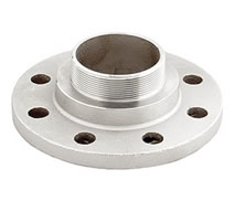 0014 - Nickel plated PN16 male threaded flange