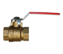 5140 - Full CR Brass F.F. full way ball valve stainless steel handle