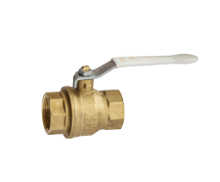 5141 - Heavy duty full CR brass F.F. ball valve full bore with Geomet coated handle