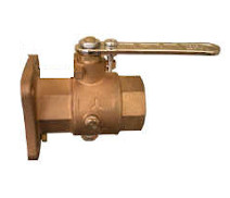 28920 - 'VITTORIA' full bronze ball valve, F.F. flanged body, with draining ports, full bore polymer ball